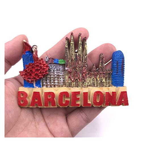 JSJJAYH Imán para nevera Samba Panorama, Gecko Español, Pergamino, Toros Española, Madrid España, Barcelona Toros Marque Souvenir Nevera, Necesidades diarias (Color: 4)