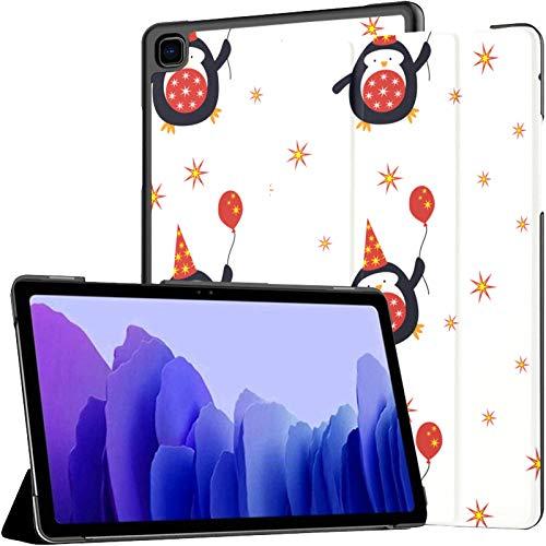 Funda de piel sintética para Samsung Galaxy Tab A7 de 10,4 pulgadas de 2020, diseño de pingüinos