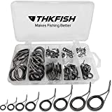 thkfish Fishing Rod Guide Repair Kit Spinning Rod Guides Ceramics Stainless Steel Carbon Guide...