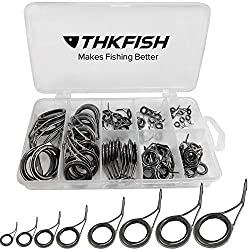 cheap thkfish Fishing Rod Guide Repair Kit Spinning Rod Ceramic Carbon Steel Stainless Steel…