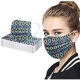 20/30/50PC Unisex Bufanda Protectora para Adultos - Moda Universal Tela Bonita Impresión 3 Capas Suave Elástico Earloop Bufanda para Mujeres Hombres -21203-12