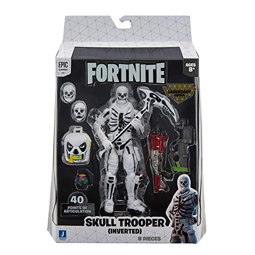 Fortnite Legendary Series, 1 Figure Pack - 6 Inch Skull Trooper – Inverted Collectible Action Figure - Includes 3 Interchangeable Face