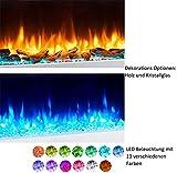 RICHEN Elektrokamin EF197A-MT197C – Wandkamin Mit Heizung, LED-Beleuchtung, 3D-Flammeneffekt & Fernbedienung – Weiß - 7
