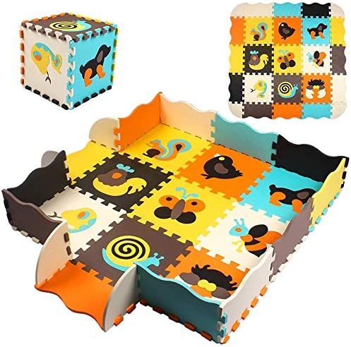 StillCool Baby Play Mat with Fence 0 39 inch Thick Interlocking Foam Floor Tile Kid Puzzle Mat product image