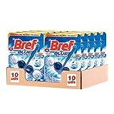 Bref WC Blue Activ Detergente Profumatore in Pastiglie Igienizzante Bagno, Pulito, Fresco, Formato Scorta 10 Pezzi