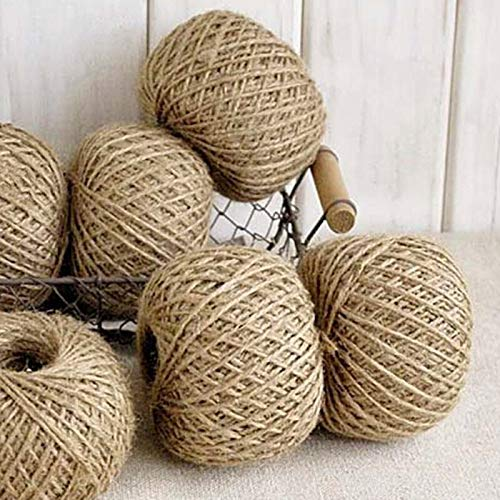 YOCO 30m Natural Hemp Rope Jute Twine Burlap String Party Wedding Gift Wrapping Cords Thread DIY Sewing Cords Craft
