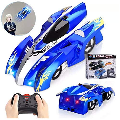 Remote Control Car Toy Climbs Walls & Ceilings 8-12, Laser-Guided Real Wall Climbing Race Carwall Climbing Rc Cars with Dual Mode 360 Rotating Stunt Rechargeable High Speed Vehicle with Led Light,F