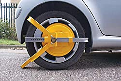 SAFETY FROM THEFT: Losing your vehicle at a camping location far from the city can be a nightmare. But, with this Streetwize Yellow wheel clamp you can protect your car from potential thefts. AMAZING FIT: It doesn't matter if you have a hatchback, an...