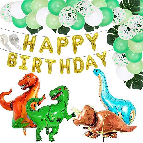 HXLFYM 53 Stücke Dinosaurier Party Geburtstag Dekoration Set Folie Baby Dusche Gute Zum Geburtstag Ballon Geburtstag Party Decor für Kinder Latex Ballons