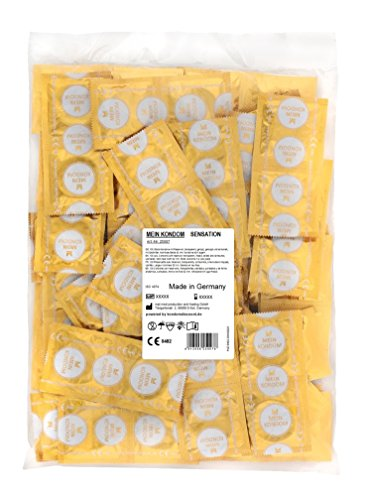 MEIN KONDOM Sensation Kondome 100er Beutel, perlgenoppt und gerippt - fair gehandelt und Vegan - Made in Germany