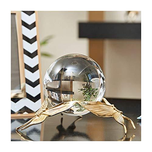 OMING Bola de Cristal Adornos de Bola de Cristal Transparentes con Adornos de gabinete de Vino de Soporte Regalos de cumpleaños Bola de Cristal Bola de Cristal TR