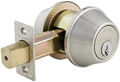 Master Lock DSC0732DKA4 Commercial Double Cylinder Deadbolt, Satin Chrome