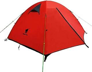 GEERTOP Tienda iglú de Campaña Impermeable Ligera 3 Personas 3 Estaciones - 180 x 210 x 120 cm ( 2,5kg ) - UV Resistente para Acampar Excursionismo y Turismo