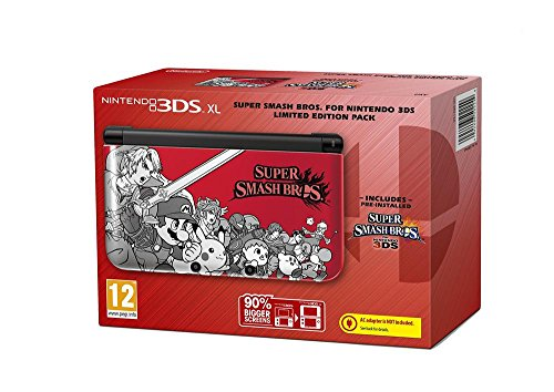 Nintendo 3DS XL - Konsole Rot + Super Smash Bros (Limited Edition)