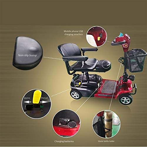 hwbq Four Wheel Electric Scooter for The Elderly