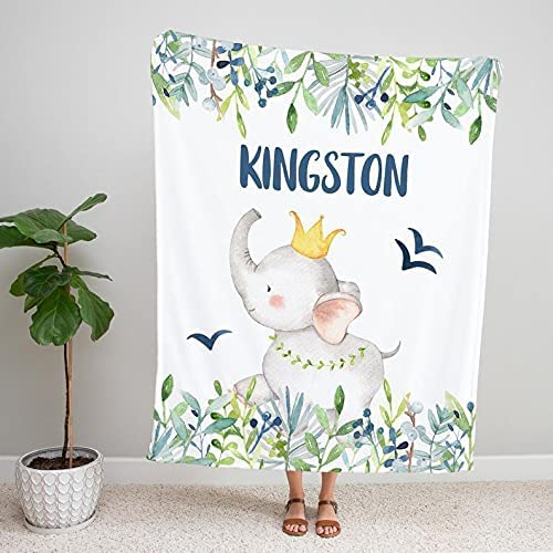 Personalized Name Fleece Tucson Mall Blanket Ranking TOP14 Blankets Mi Baby Monthly