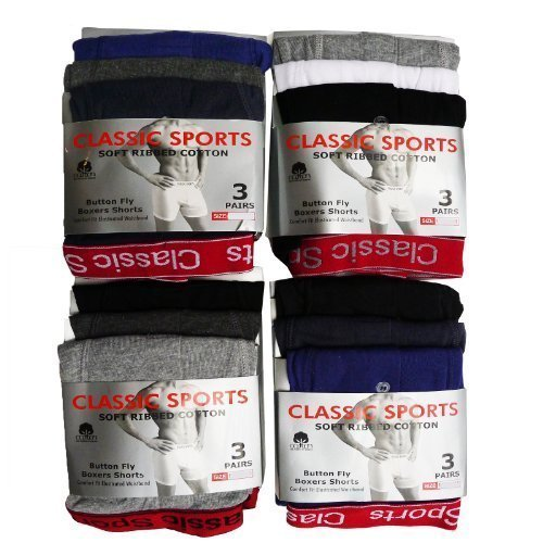 Classic Sports Hommes Pack De 3 Red Bande Short Boxer - Blanc, Homme, Large