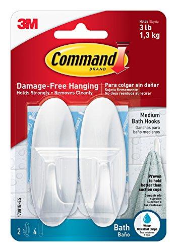 Command 17081B Ganchos de baño de diseño...
