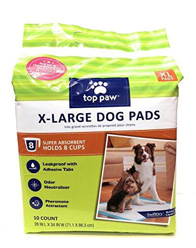 TOP PAW XL Extra Large X-Large Dog Puppy Pads - 10 Count