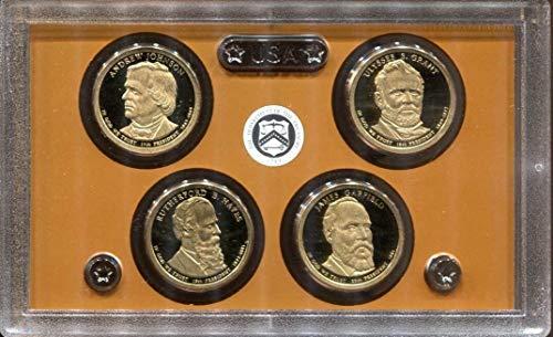 2011 S Presidential Dollars Proof Set - 4 coins - Quarter GEM Proof No Box or COA US Mint Coin Box Coa No Coins