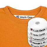 100 Etiquetas con Iconos de Alergias e Intolerancias alimentarias. Etiquetas para marcar la ropa con plancha. Modelo Alergias