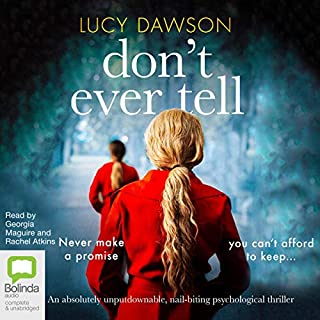 Don't Ever Tell audiobook cover art