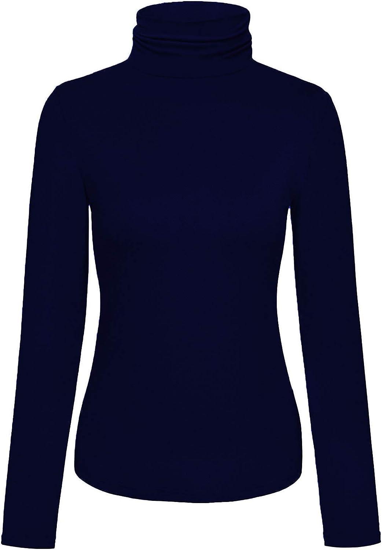 Sunfaynis Womens Soft Cotton Mock Turtleneck Shirt Baselayer Tops Underwear Shirt