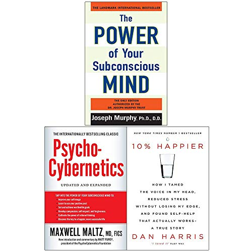 Price comparison product image Power of Your Subconscious Mind,  Psycho-Cybernetics,  10% Happier 3 Books Collection Set