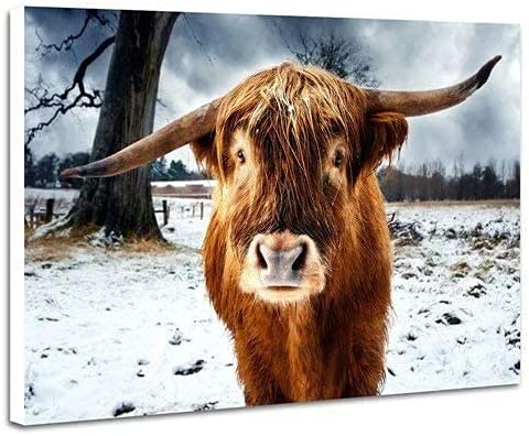 1000 Piece Jigsaw Puzzle Highland Snow Cattle San Jose Mall Oklahoma City Mall Winter Puzzles fo