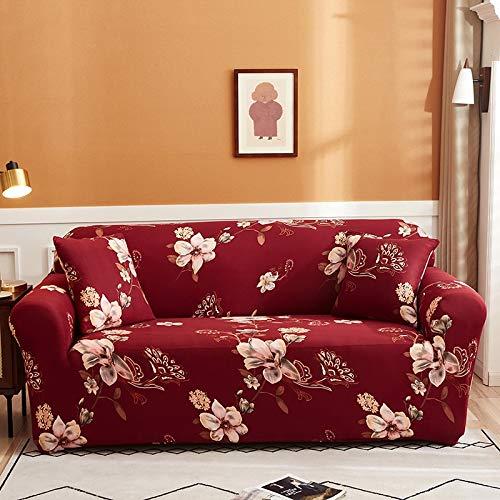 Funda de sofá elástica para Sala de Estar Funda de sofá elástica seccional Funda de sofá elástica en Forma de L Funda de sillón de Esquina A12 2 plazas