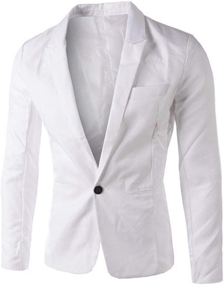 KLGDA Men's Slim Fit Blazer Modern Stretch Suit Separate One Button Long Sleeve Sport Coat Jacket