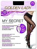 GOLDEN LADY My Secret 40 3P Collant, 40 DEN, Nero (Nero 099A), Small (Taglia produttore:2 – S) (Pacco da 3) Donna