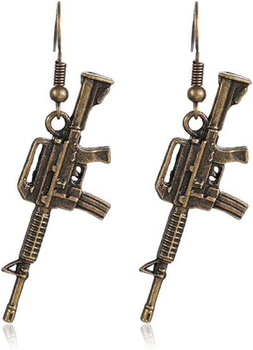 AK47 GUN Assault Rifle Weapon Earrings 1.5