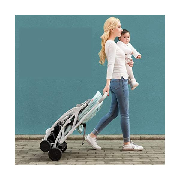 RAPLANC High Landscape Stroller, Lightweight Foldable, 4Seasons Universal, Stereo Shock Absorber, 360-Degree Rotation Function, Color : Green,Black RAPLANC * stereo shock absorber frame structure to prevent your baby from receiving shocks *Widened and extended sleeping basket, spacious, baby activities freely *Four seasons universal /increased storage basket / five-point seat belt 8