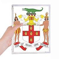 ジャマイカ北アメリカ 国章 硬質プラスチックルーズリーフノートノート