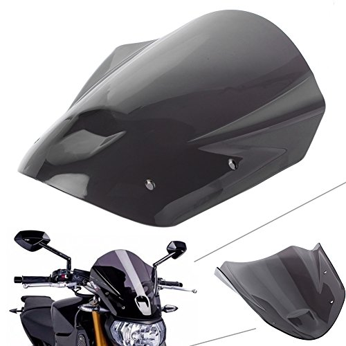 GZYF Smoke Black Motorcycle Windshield Windscreen W/Bolts Brackets for YAMAHA MT-09 / FZ-09 2013 2014 2015 2016