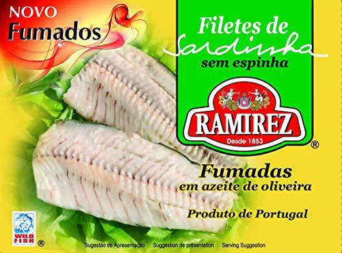 Filetes de sardinha ahumados en aceite de oliva Ramirez
