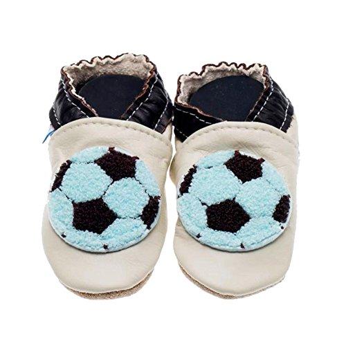 Jack & Lily voetbal/soccer 1602 jongens kruipschoenen/pantoffels