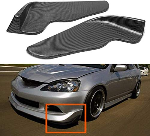 DDDXF 1 Paar Carbon Look Universal Auto Frontstoßstange Lip Deflector Spoiler Diffusor Canard Lippenschutz,A,A