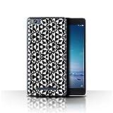 Stuff4 Phone Case for Xiaomi Mi 4C Black Fashion Geometric