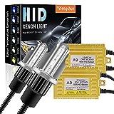 65W H4 Kit de Conversión de Xenón HID para Automóvil Balastos HID Ultrafinos Inicio Rápido Xenón Blanco Extremadamente Brillante 6000K