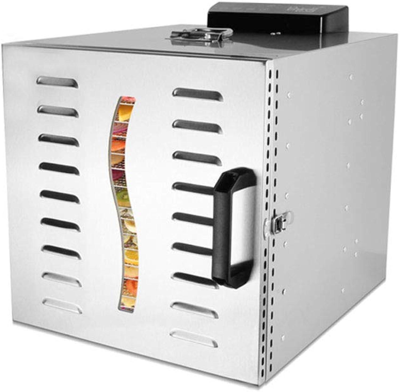 el precio más bajo ZHAOHGJ Deshidratador de Alimentos, 12 12 12 Capas de Gran Capacidad 304 Material de Acero Inoxidable Secador de Frutas, 800W  minorista de fitness