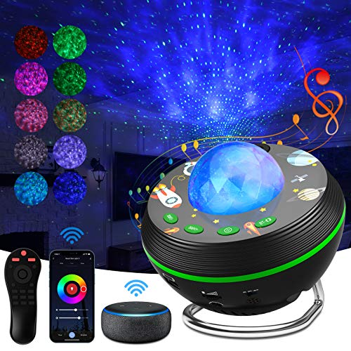 LED Sternenhimmel Projektor mit WiFi Smart App,Galaxy Projektor erwachsene kinder, Nachtlicht sternenhimmel,Projektor lampe sternenhimmel für Schlafzimmer Bar Schlafzimmer Hochzeit Festival