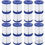 Filtro de piscina para Bestway tipo I sustituye a cartuchos filtrantes, cartucho de filtro, para piscina Bestway Spa de repuesto, filtro de limpieza de piscina hinchable, accesorios (16 piezas)