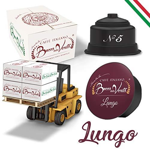 Coffee Bocca Della Verità Compatible Capsules Dolce Gusto '' Lungo 'Platforms of 72 Boxes of 16 Cases for 6 Pieces