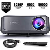 Beamer, 6000 LM Full HD 5.8' LCD Video Projektor 1080P HDMI USB VGA SD Card AV für Office...