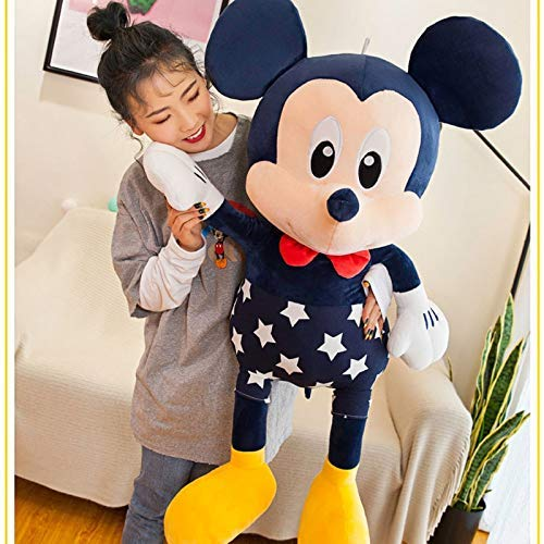 JMHomeDecor Plush Toy 95Cm Mickey&Minnie Mouse Doll Stuffed Plush Toy Soft Star Mickey Minnie Dolls Cushion Pillow Birthday Wedding Gifts For Kids Children