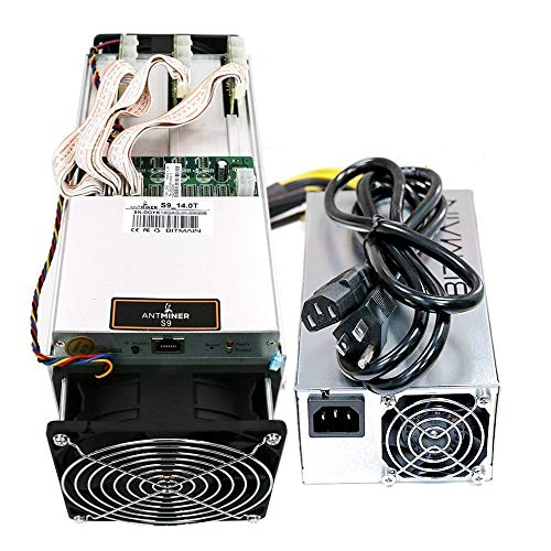 BitMain Antminer S9 14.0TH/s 0.098W/GH 16nm ASIC Bitcoin Miner with Power Supply