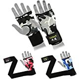 Verus Camo MMA Inner Gloves Gel Boxing Muay Thai Bandage Training Hand Wraps Pai (Grey/Camo, Small)
