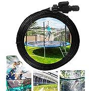 #LightningDeal Hoperay Outdoor Water Toys, Trampoline Sprinkler for Kids Backyard, Fun Park Summer Outdoor Play Games Yard Accessories (Jet Black, Plastic)